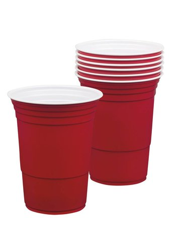 USA Party American Red Cups 400ml - 6 stuks