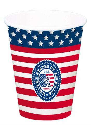 USA Party Bekers XL 700ml - 8 stuks