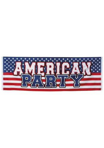 USA Party Spandoek - 220x74cm
