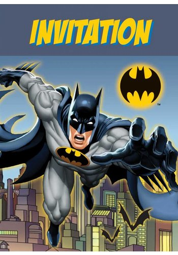 Batman Uitnodigen - 8 stuks