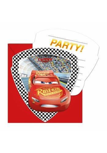 Cars uitnodigingen - 6 stuks
