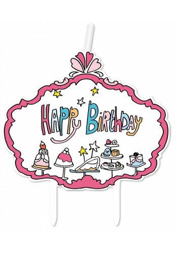 Jill kaarsje Happy Birthday