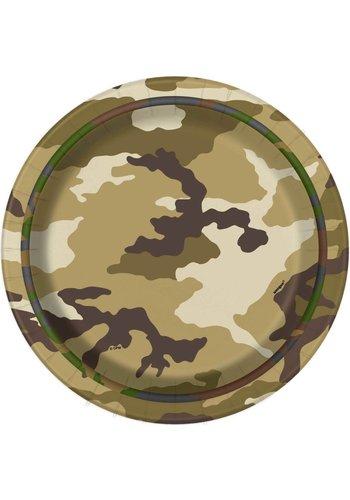 Camouflage bordjes 18cm - 8 stuks