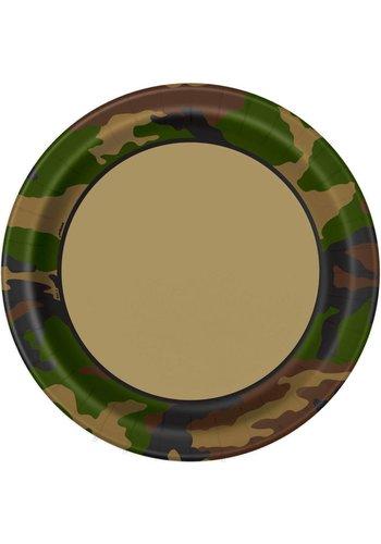 Camouflage bordjes 23cm - 8 stuks