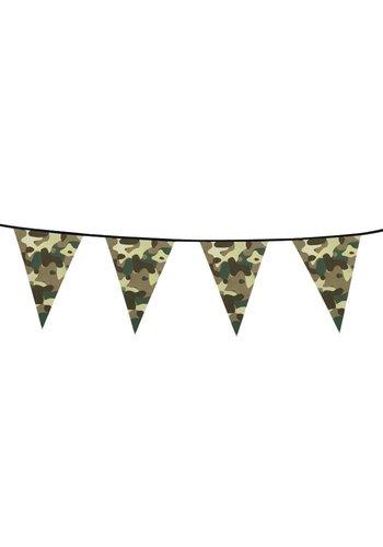 Vlaggenlijn Camouflage - 10 meter