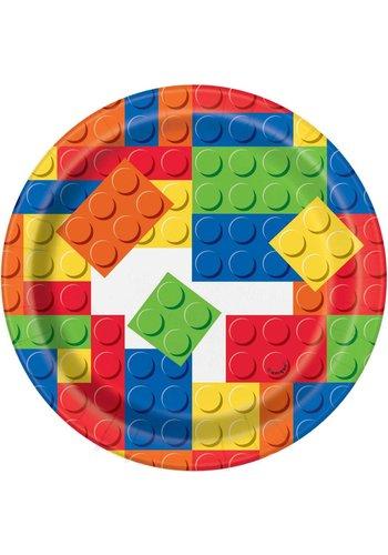 Lego bordjes 18cm - 8 stuks