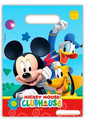 Mickey Mouse uitdeelzakjes - 6 stuks