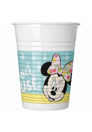 Minnie Mouse Tropical bekertjes 200ml - 8 stuks