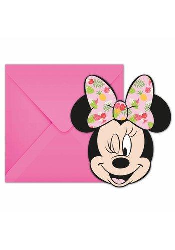 Minnie Mouse Tropical uitnodigingen - 6 stuks