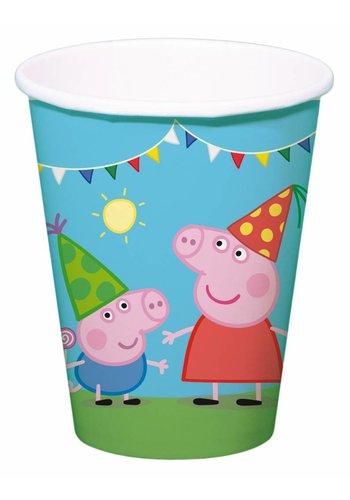 Peppa Pig bekertjes 250ml - 8 stuks