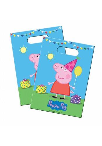 Peppa Pig feestzakjes - 8 stuks