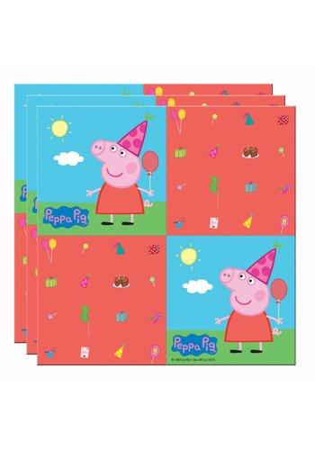 Peppa Pig servetten 33x33cm - 20 stuks
