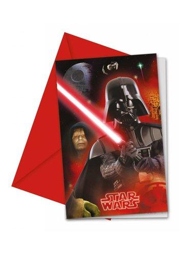Star Wars uitnodigingen - 6 stuks