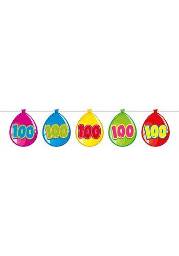 Balloonshape vlaggenlijn 100 jaar - 10 meter