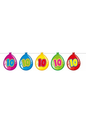 Balloonshape vlaggenlijn 10 jaar - 10 meter