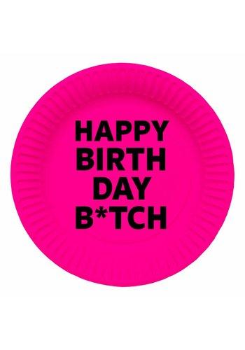 Happy Birthday B*tch bordjes 23cm - 8 stuks