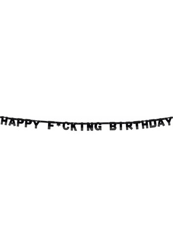 Happy F*cking Birthday letterbanner