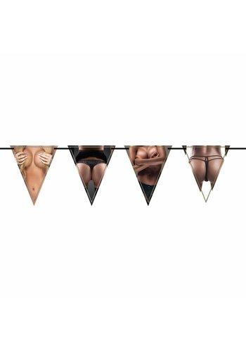 Vlaggenlijn Tits & Ass - 6 meter