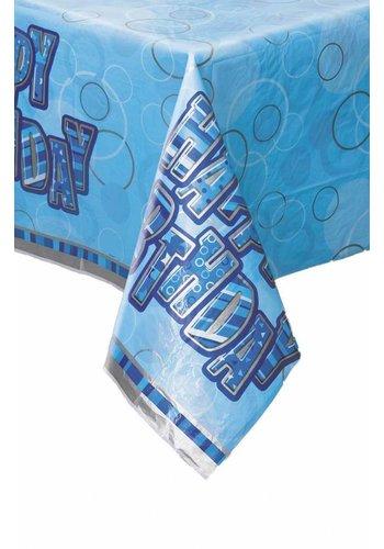Blue Glitz tafelkleed 140x214cm