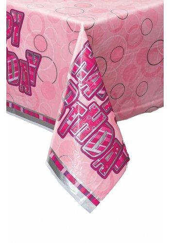 Pink Glitz tafelkleed 140x214cm
