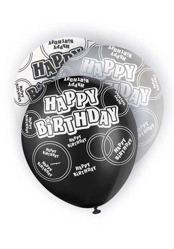 Black Glitz ballonnen - 6 stuks