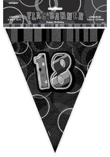 Black Glitz vlaggenlijn 18 - 275cm