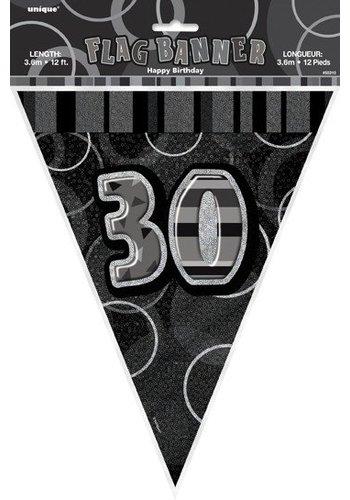 Black Glitz vlaggenlijn 30 - 275cm