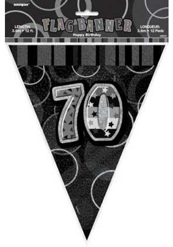 Black Glitz vlaggenlijn 70 - 275cm