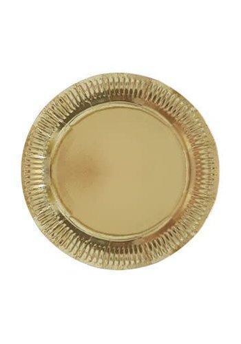 Sparkling Gold bordjes 23cm - 6 stuks