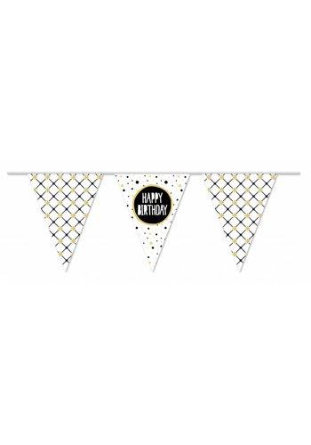 Sparkling Gold Happy Birthday vlaggenlijn - 10 meter