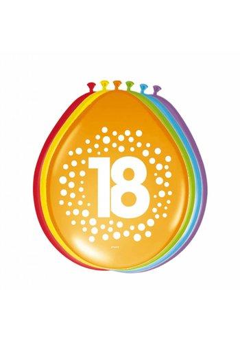 Happy Birthday Dots Ballonnen 18 - 8 stuks