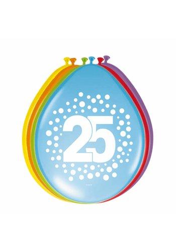 Happy Birthday Dots Ballonnen 25 - 8 stuks