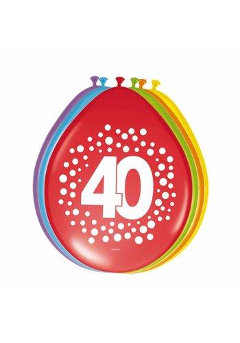 Happy Birthday Dots Ballonnen 40 - 8 stuks