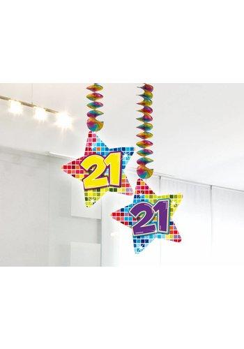 Blocks hangdeco 21 - 2 stuks