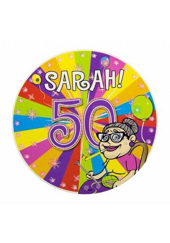Sarah Explosion badge met LED