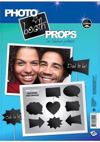 Photo Booth Props - Writable - 20 stuks