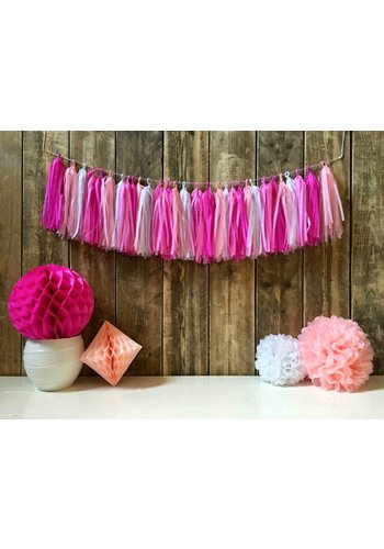 Tassel slinger Pink - 5 meter