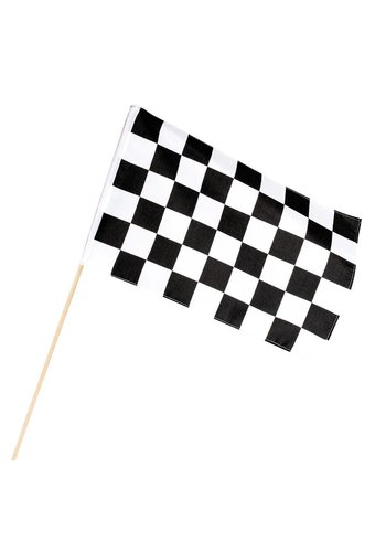 Racing Finish vlag - 30x45cm - stok 60cm