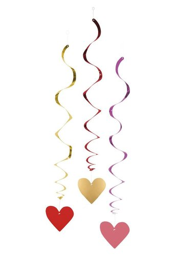 Swirl Decoratie Love - 85cm - 3 stuks