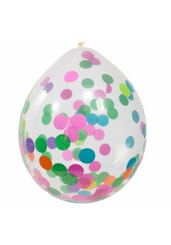 Confetti ballonnen multi color - 30cm - 4 stuks