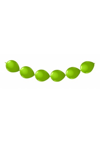 Doorknoop Ballonnen Lime Groen - 3 meter