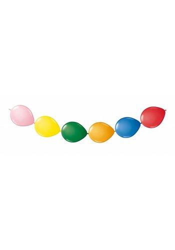 Doorknoop Ballonnen Multi Color - 3 meter