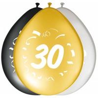 "Ballonnen ""30"" classy - 30cm - 8 stuks"