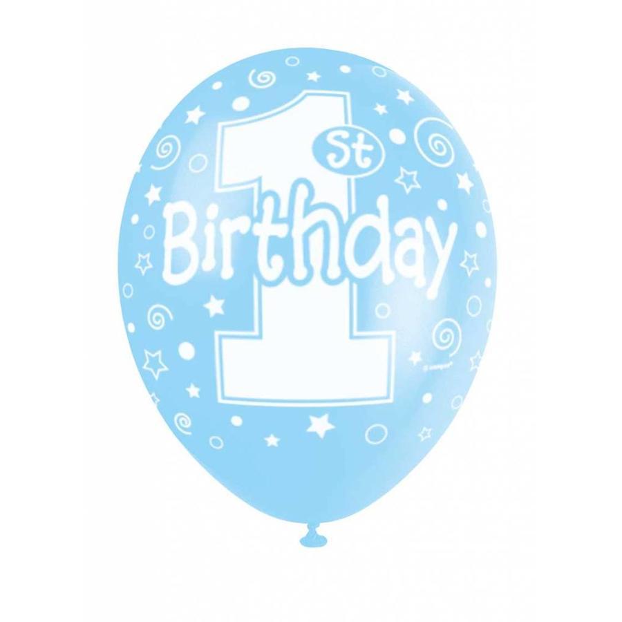 Ballonnen 1 Blauw - 30cm - 5 stuks-1