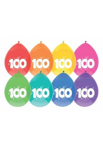 Ballonnen 100 - 30cm - 8 stuks
