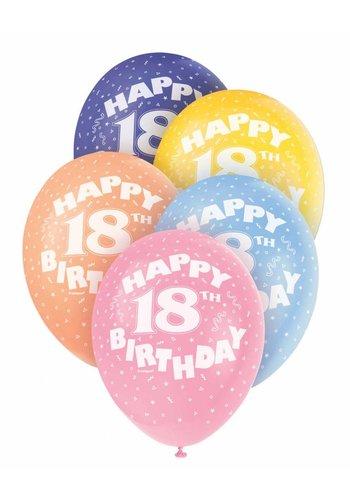 Ballonnen 18 - 30cm - 5 stuks