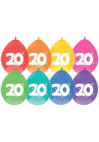 Ballonnen 20 - 30cm - 8 stuks