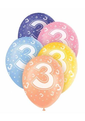 Ballonnen 3 - 30cm - 5 stuks
