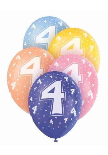 Ballonnen 4 - 30cm - 5 stuks