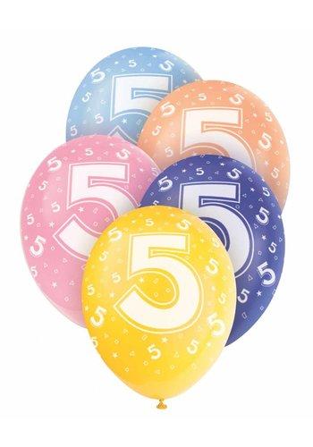 Ballonnen 5 - 30cm - 5 stuks